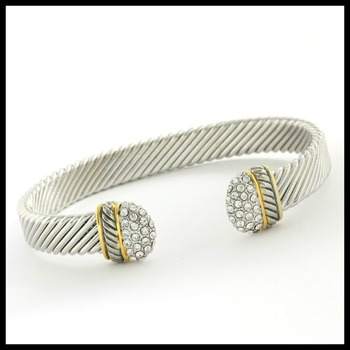 AAA Grade CZ Bangle Cable Bracelet