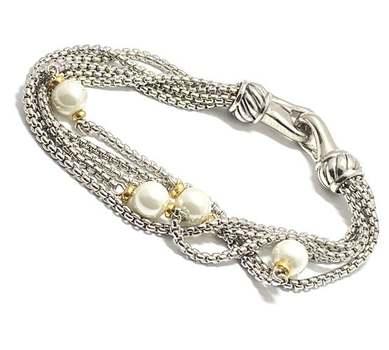 8mm White Pearl Bracelet