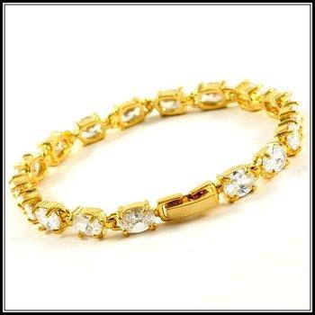 9.00ctw AAA+ Grade White Cubic Zirconia Bracelet
