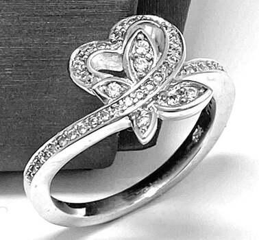 .925, 0.50ct Round Cut Diamonique Diamond  Ring in Solid Sterling Silver