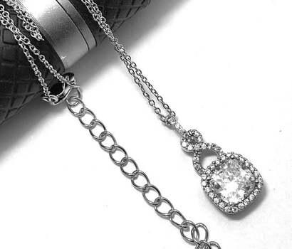 .925 Solitaire Necklace 0 Sterling Silver, 2.05ct Diamonique Diamond Pendant Necklace