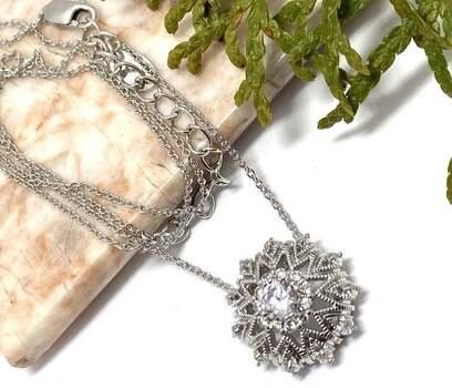 .925 Solitaire Pendant Necklace- .925 Sterling Silver, 1.00ct White Diamonique Necklace