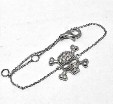 .925 SS Skeleton Chain Bracelet 0.25ct Diamonique Diamond Solid Sterling Silver