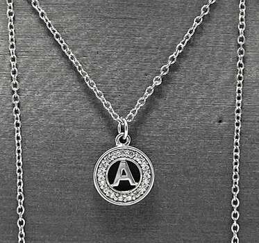 ".925 Sterling Silver 0.08ct White Diamonique ""A"" Necklace"