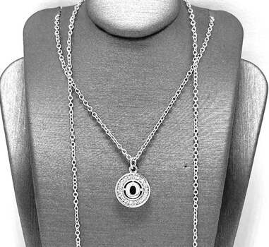 ".925 Sterling Silver 0.08ct White Diamonique ""O"" Necklace"