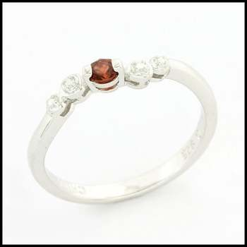 .925 Sterling Silver, 0.11ctw (AAA Grade) CZ's Bridal Engagement Ring Size 7