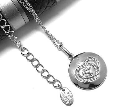 .925 Sterling Silver, 0.20ct Diamonique Diamond Necklace