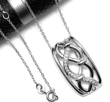 .925 Sterling Silver 0.20ct Diamonique Necklace