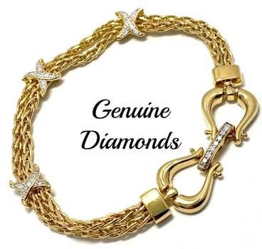 .925 Sterling Silver, 0.20ct Genuine Diamond Bracelet