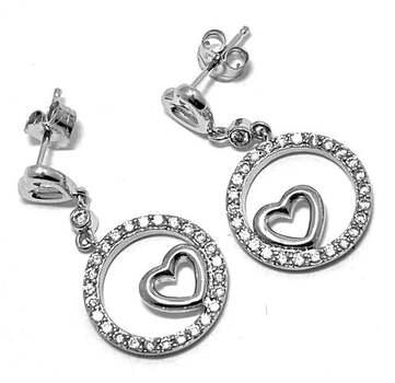 .925 Sterling Silver, 0.25ct Diamonique Diamond Drop Earrings