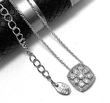 .925 Sterling Silver, 0.25ct Diamonique Diamond Pendant Necklace