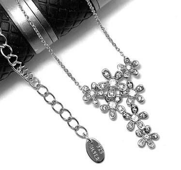 .925 Sterling Silver, 0.30ct Diamonique Diamond Pendant Necklace