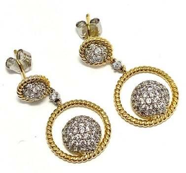 .925 Sterling Silver, 0.35ct Diamonique Diamond Drop Earrings