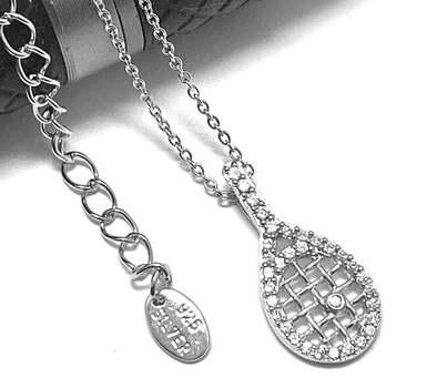 .925 Sterling Silver, 0.35ct Diamonique Diamond Necklace