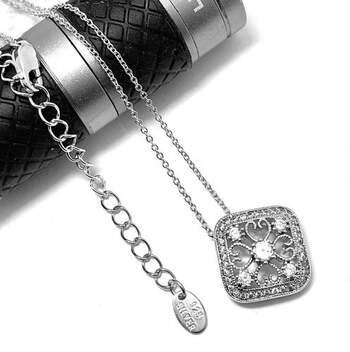 .925 Sterling Silver, 0.35ct Diamonique Diamond Pendant Necklace