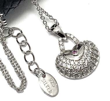 .925 Sterling Silver 0.40ct Diamonique Necklace