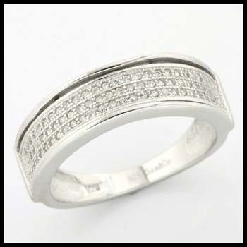 .925 Sterling Silver, 0.40ctw (AAA Grade) CZ's Ring size 11