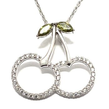 .925 Sterling Silver, 0.40ctw Cubic Zirconia Necklace