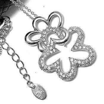 .925 Sterling Silver 0.50ct Diamonique Necklace