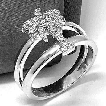 .925 Sterling Silver, 0.50ct Round Cut Diamonique Diamond  Ring