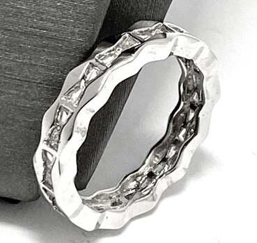 .925 Sterling Silver, 1.00ct Diamonique Diamond Band Ring
