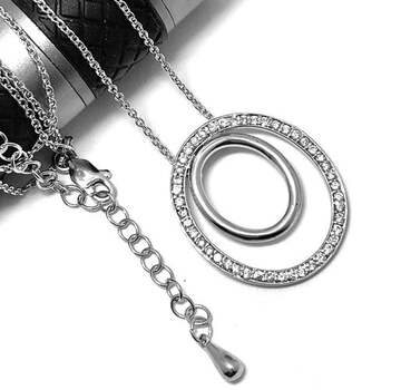 .925 Sterling Silver 1.00ct Diamonique Necklace