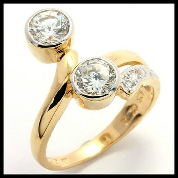 .925 Sterling Silver, 1.07ctw (AAA Grade) CZ's Ring size 7