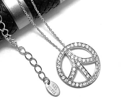 .925 Sterling Silver, 1.0ctw White Topaz Necklace