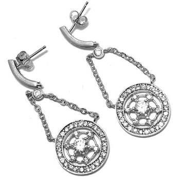 .925 Sterling Silver, 1.10ct Diamonique Diamond Drop Earrings