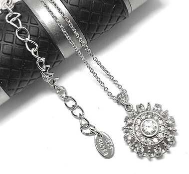 """.925 Sterling Silver, 1.10ct Diamonique Diamond """"Round"""" Pendant Necklace"""