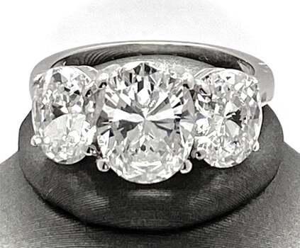 .925 Sterling Silver, 11.50ct White Diamonique Ring Size 7