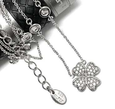 """.925 Sterling Silver 1.25ct Diamonique """"Diamond By The Yard"""" Necklace"""