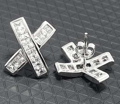 .925 Sterling Silver, 1.25ct Diamonique Diamond Stud Earrings