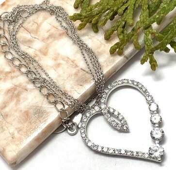 .925 Sterling Silver, 1.50ct White Diamonique Necklace
