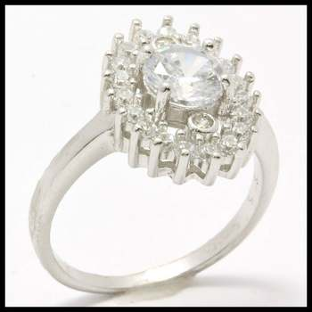 .925 Sterling Silver, 1.50ctw (AAA Grade) Cubic Zirconia Ring sz 7