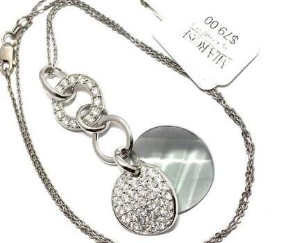 """.925 Sterling Silver, 1.50ctw White Diamonique """"Mia Rose Design"""" Necklace"""