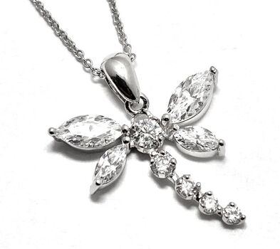 .925 Sterling Silver, 1.50ctw White Topaz Necklace