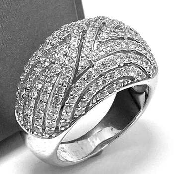 .925 Sterling Silver, 2.00ct Round Cut Diamonique Diamond Cocktail Ring