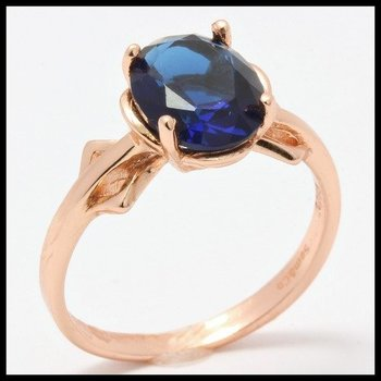 .925 Sterling Silver, 2.00ctw Sapphire Ring size 7