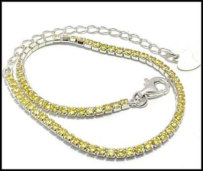 .925 Sterling Silver, 2.07ctw (AAA Grade) CZ's Tennis Bracelet