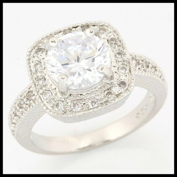 .925 Sterling Silver, 2.24ctw (AAA Grade) CZ's Ring sz 7