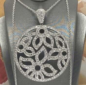 .925 Sterling Silver, 2.35ctw White Diamonique Necklace