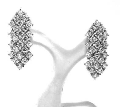.925 Sterling Silver, 2.50ct Diamonique Diamond Drop Earrings
