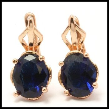 .925 Sterling Silver, 7.50ctw Sapphire Latch Back Earrings