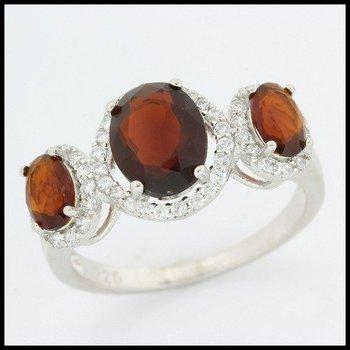 .925 Sterling Silver Garnet Ring Size 7