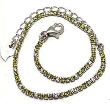.925 Sterling Silver Golden & White Topaz Bracelet