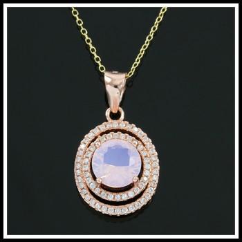 .925 Sterling Silver, Mystic Topaz & AAA Grade Australian Cz's Necklace