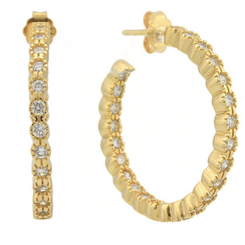 925 Sterling Silver & White Topaz Earrings