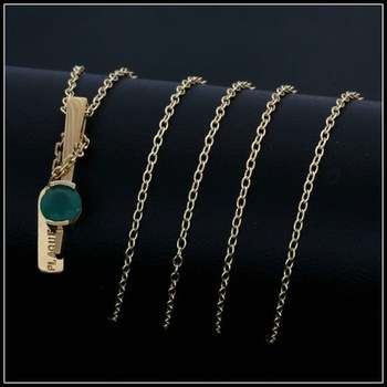 .925 Sterling Silver with Yellow Gold Overlay Created Emerald Necklace