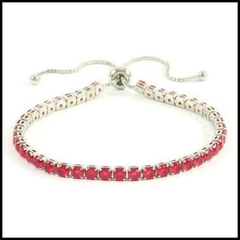 9.89ctw Ruby Adjustable Bracelet